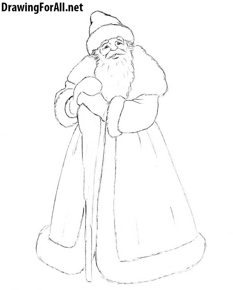 ded moroz drawing