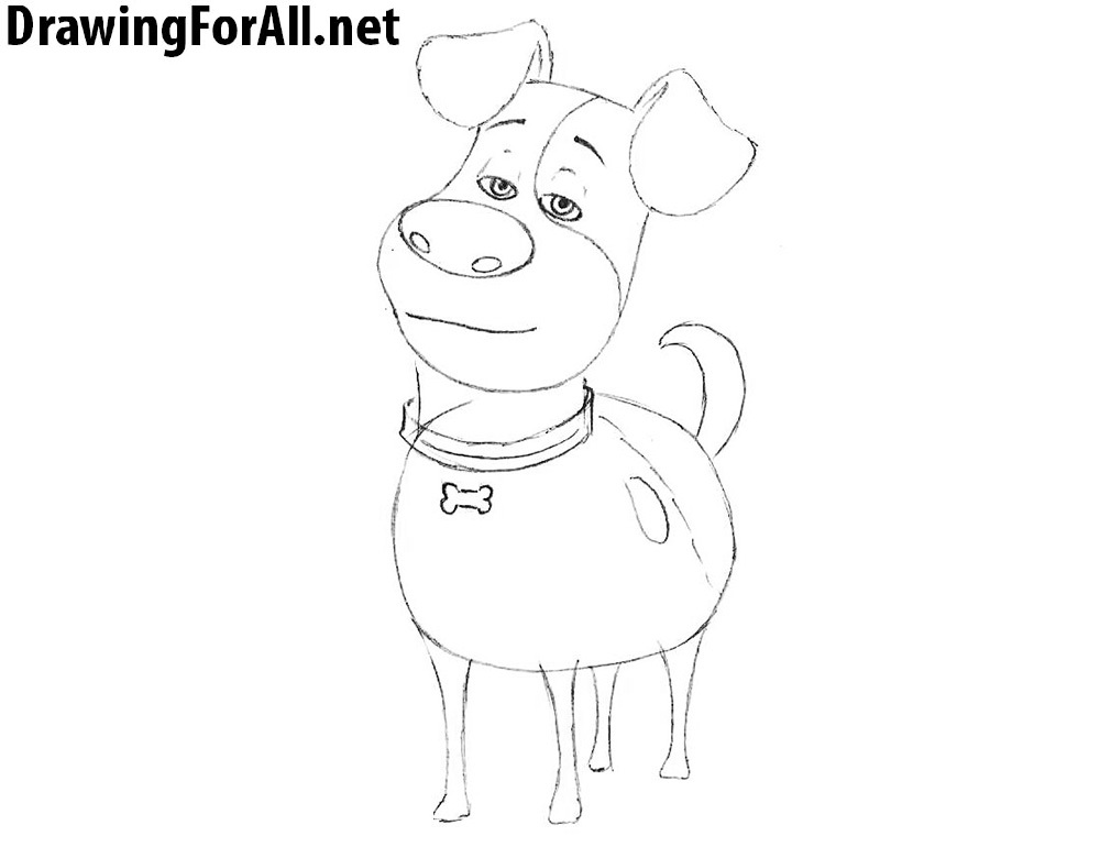 How to Draw Max  Dog