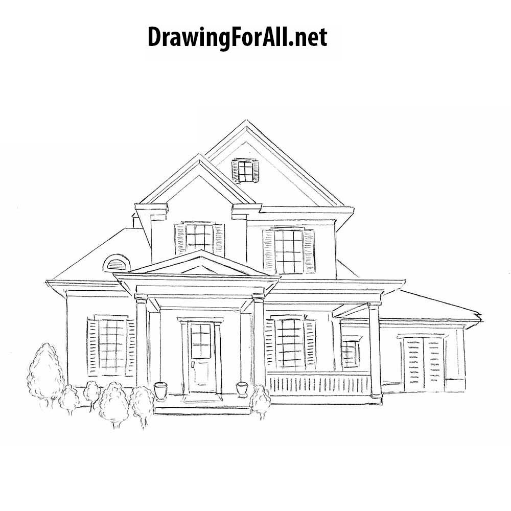 How to draw a house for beginners for House sketches from photos