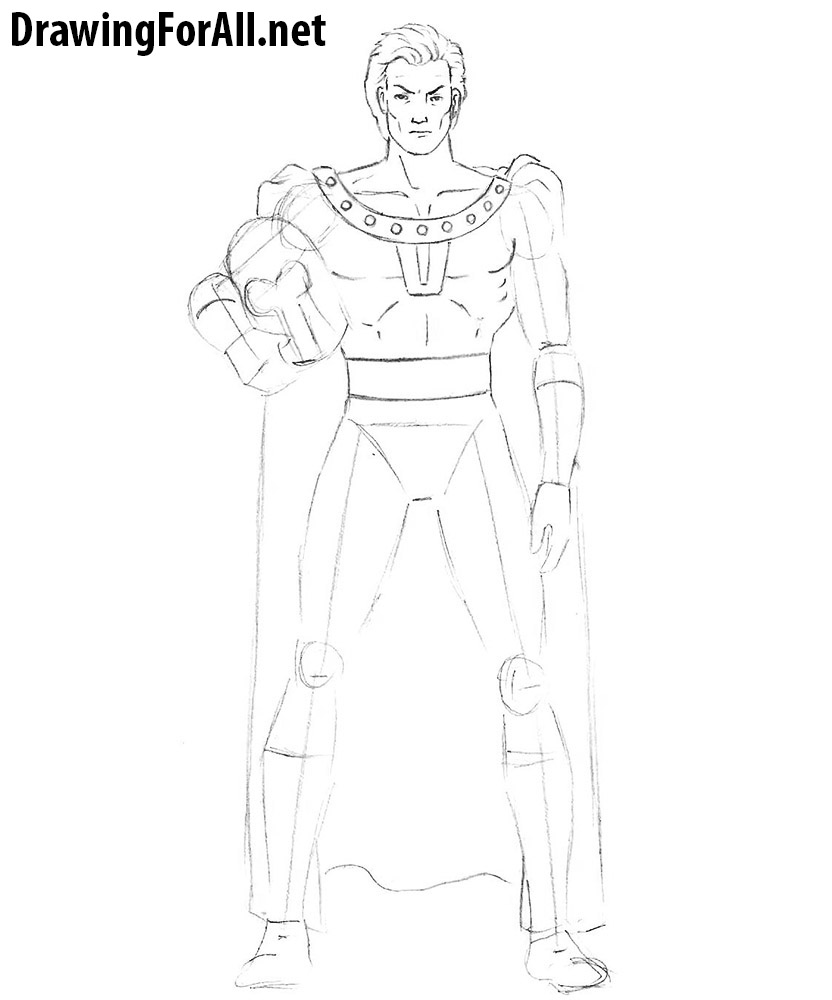 how to draw magneto step by step