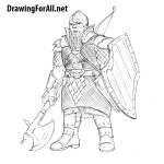 How to Draw a Dwarf Warrior