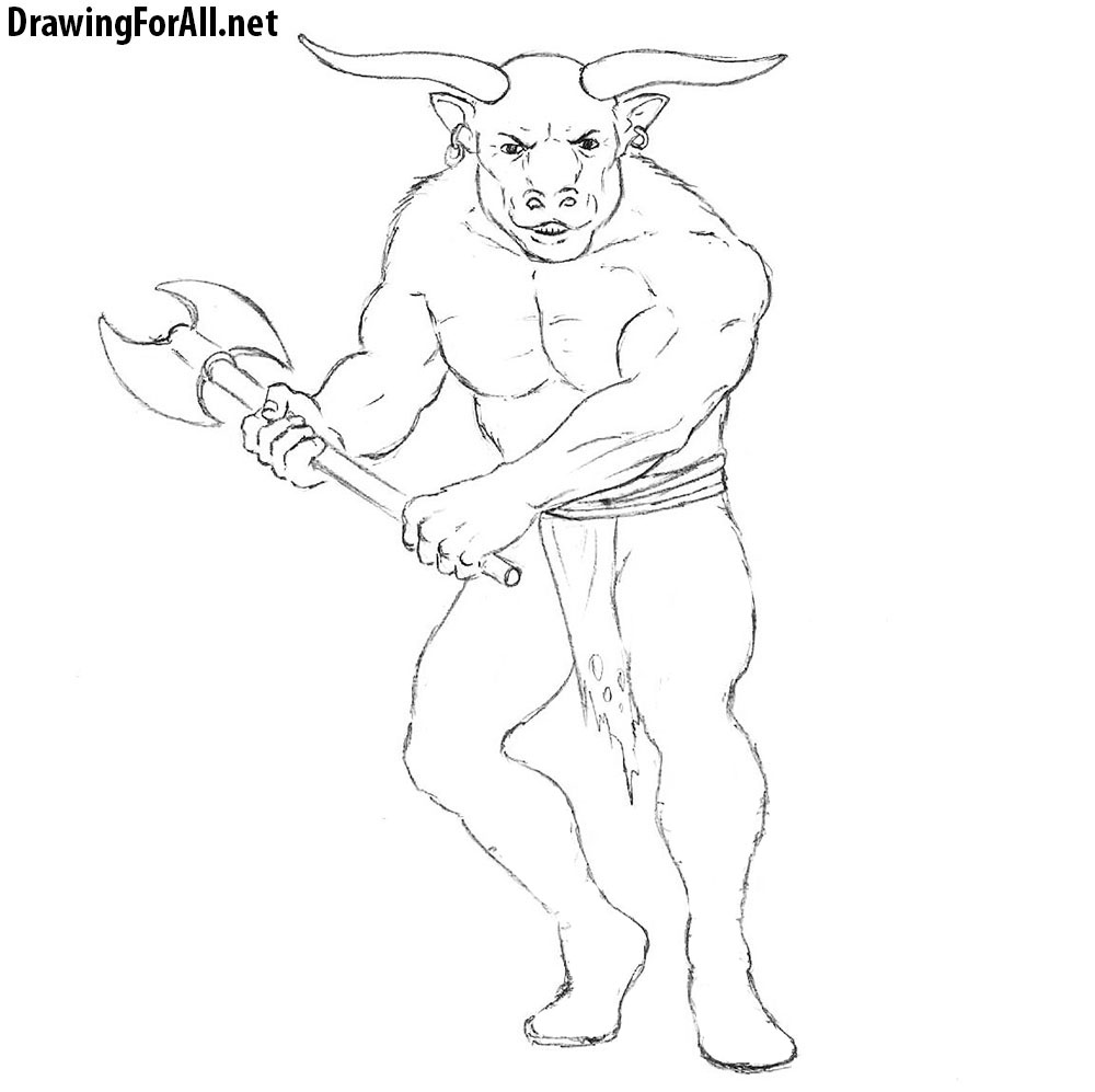minotaur drawing