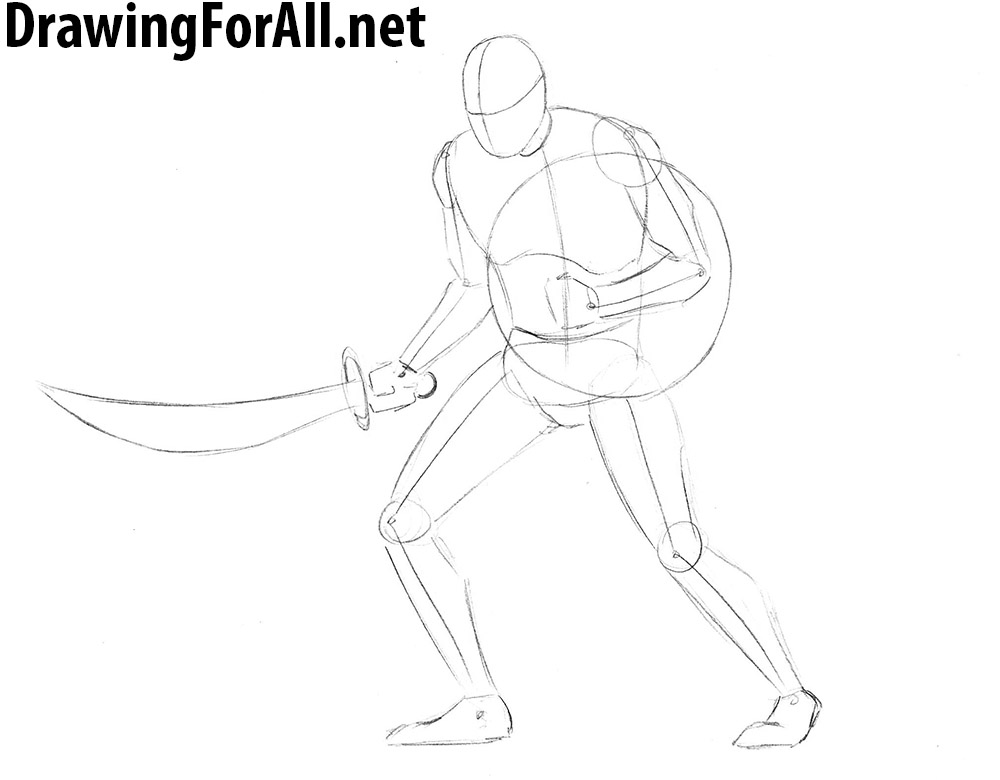 How to Draw a Zombie Warrior step by step