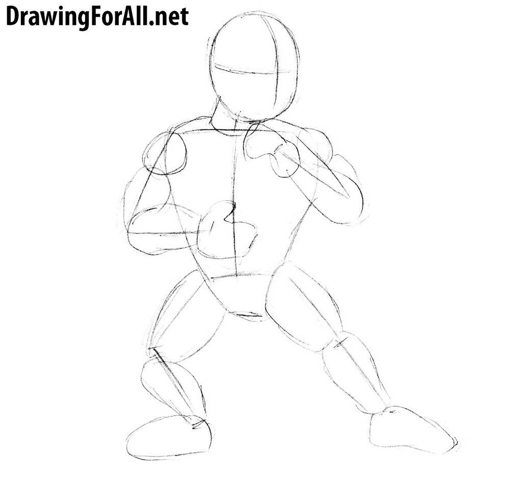 how to draw a cartoon sub zero