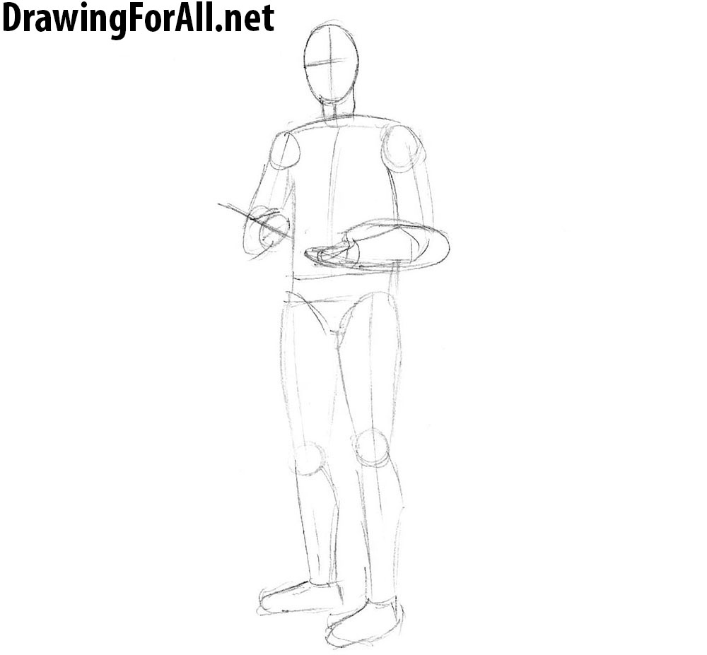 how to draw an artist step by step