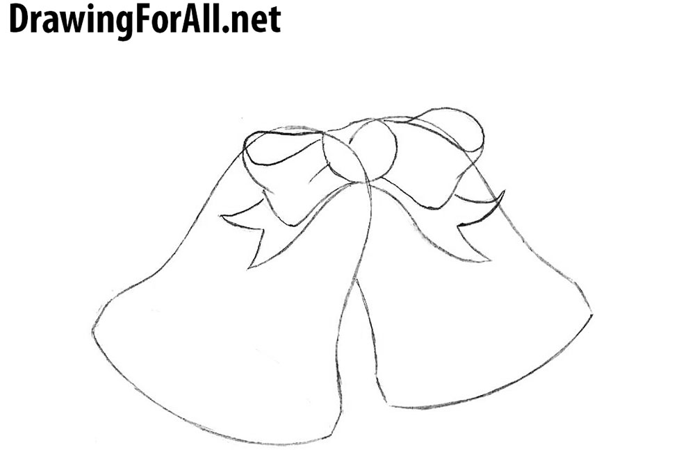 how to draw christmas bells step by step