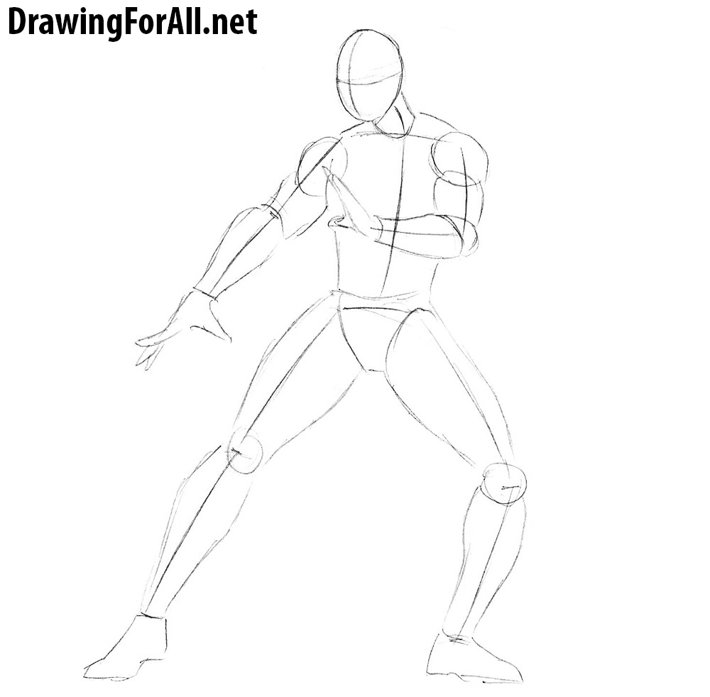 how to draw kung lao step by step