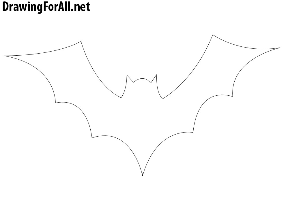 bat for halloween drawing
