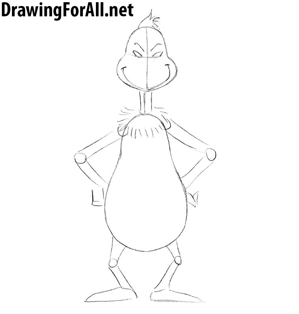 learn how to draw grinch