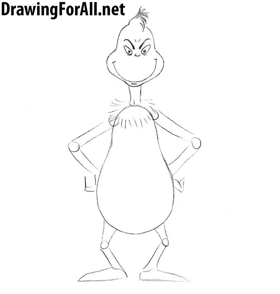 how to draw grinch from How the Grinch Stole Christmas