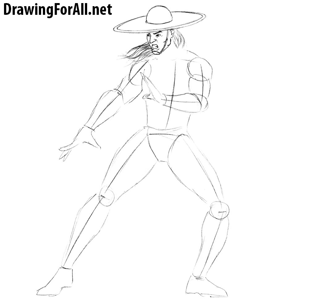 how to draw mortal kombat
