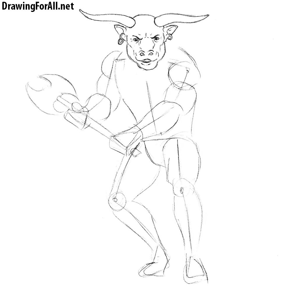 learn how to draw minotaur