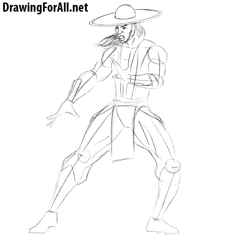 learn how to draw kung lao from mortal kombat