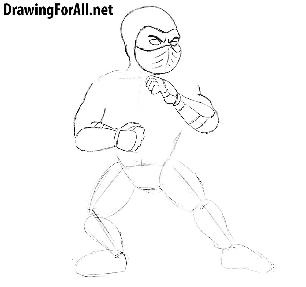learn how to draw subzero for kids