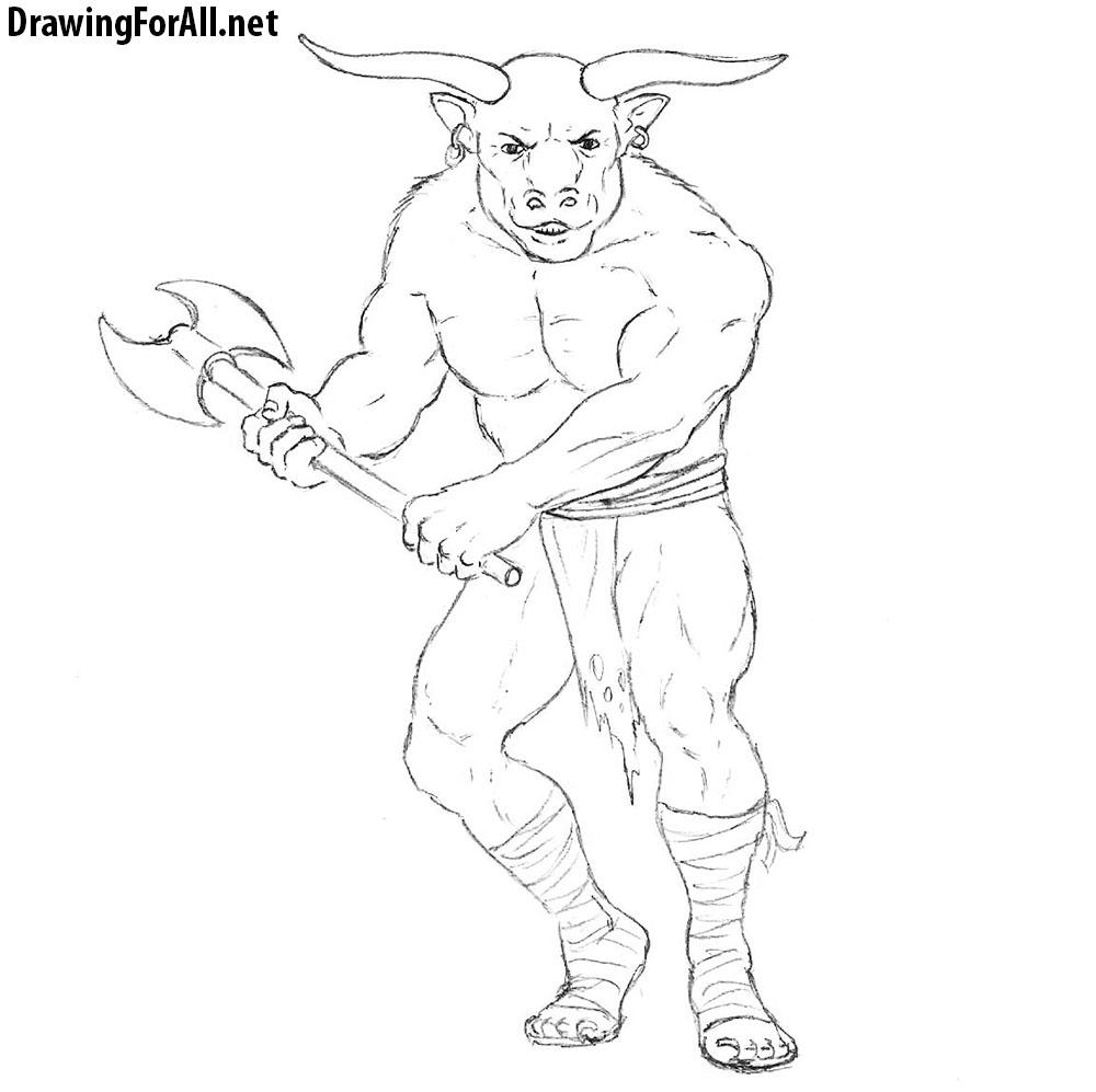 minotaur drawing