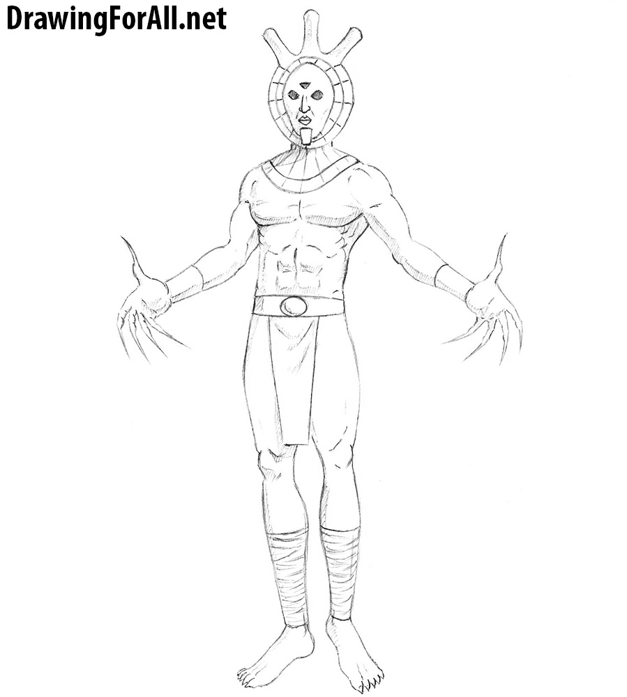 how to draw dagoth ur from the elder scrolls