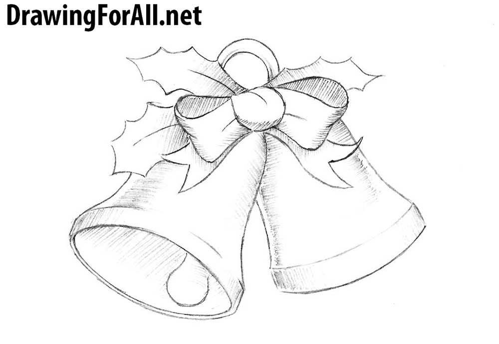 Christmas Pictures To Draw.How To Draw Christmas Bells Drawingforall Net
