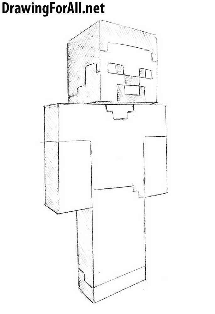 How To Draw A Minecraft Steve
