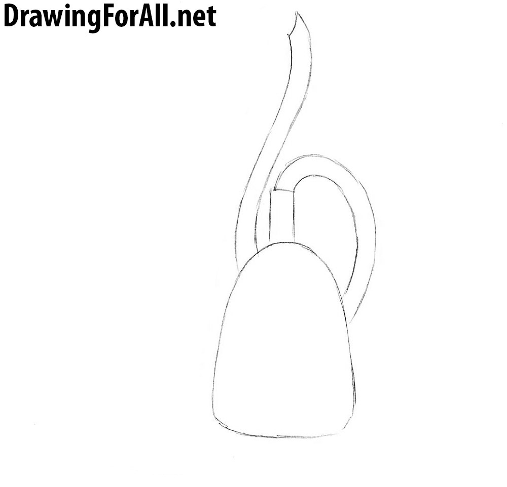 1 how to draw a vacuum cleaner step by step