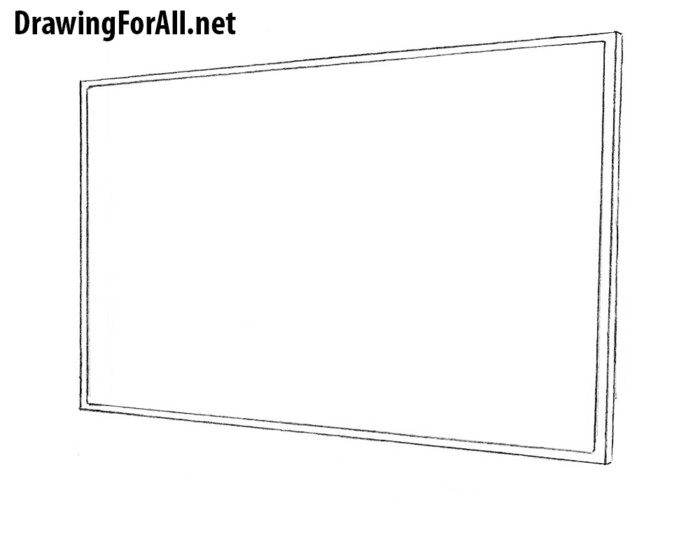 How to Draw LED tv