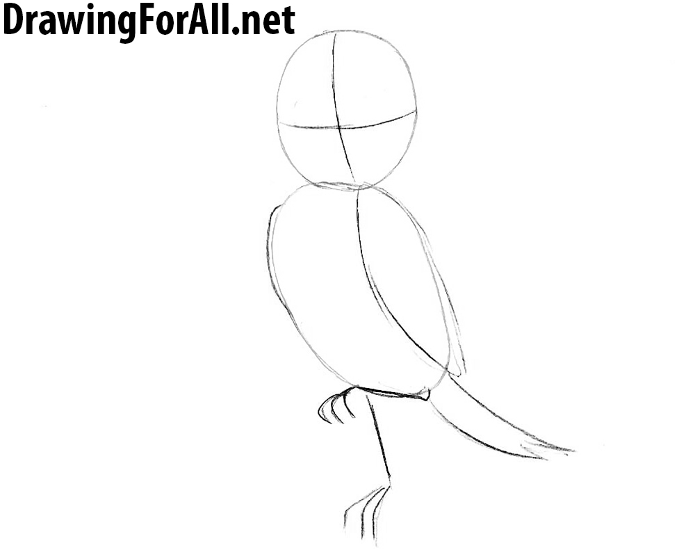 How to Draw Richard the Stork step by step