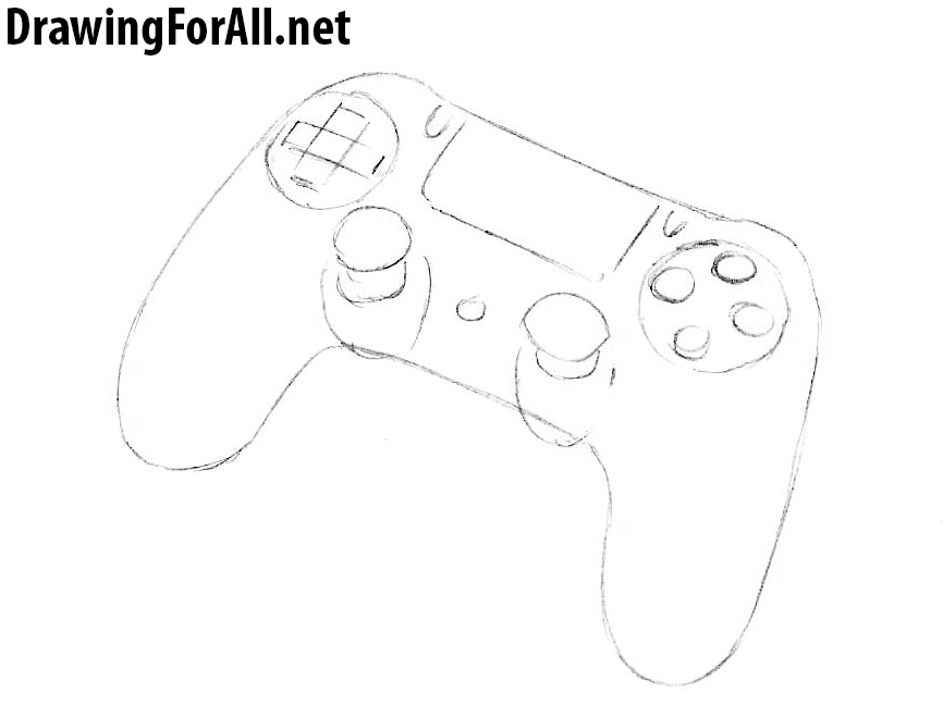 how to draw a dualshock gamepad