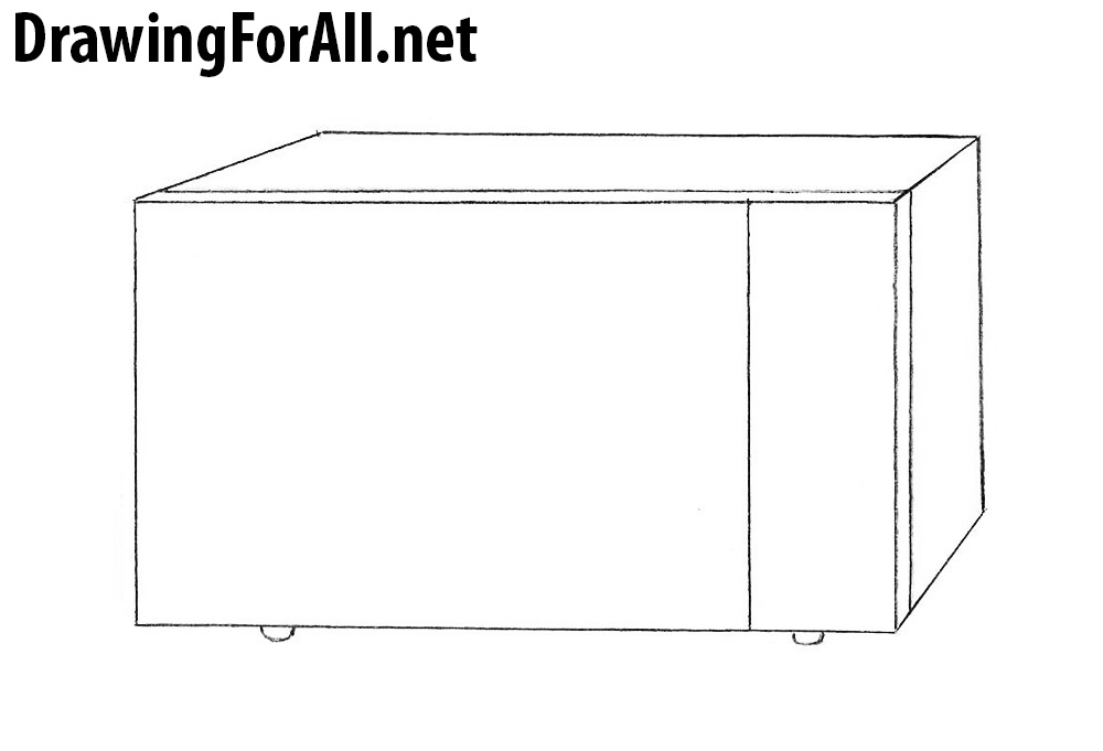learn How to Draw a Microwave step by step