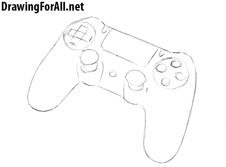 how to draw dualshock