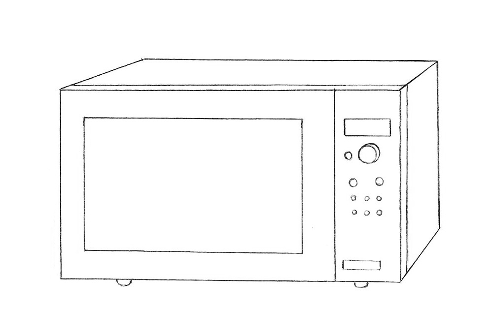 How to Draw a Microwave