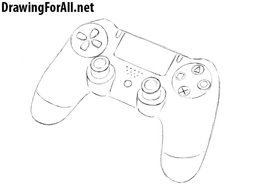 Drawing Lines Using Xbox One : How to draw a gamepad drawingforall