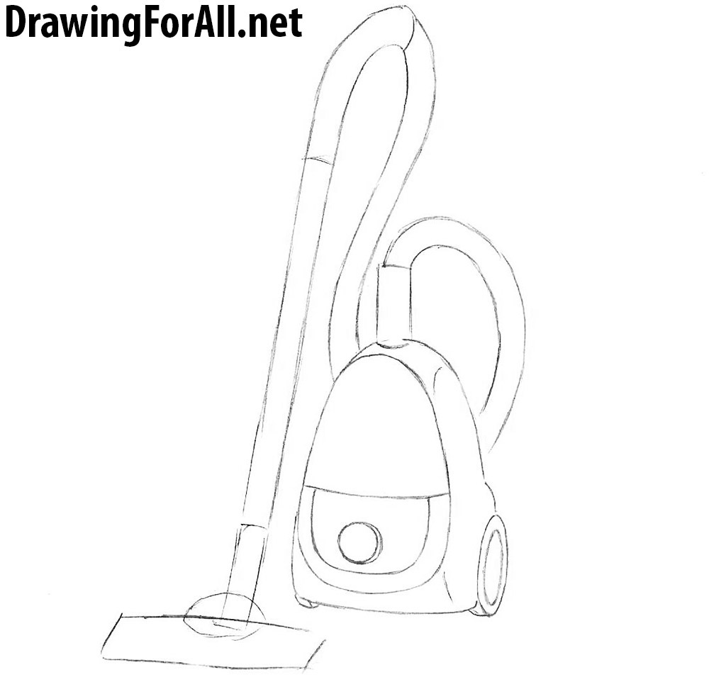 lern how to draw a vacuum cleaner with a pencil