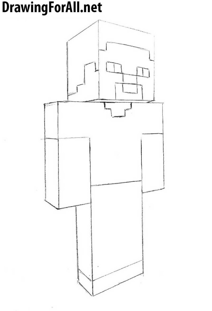 steve from minecraft drawing