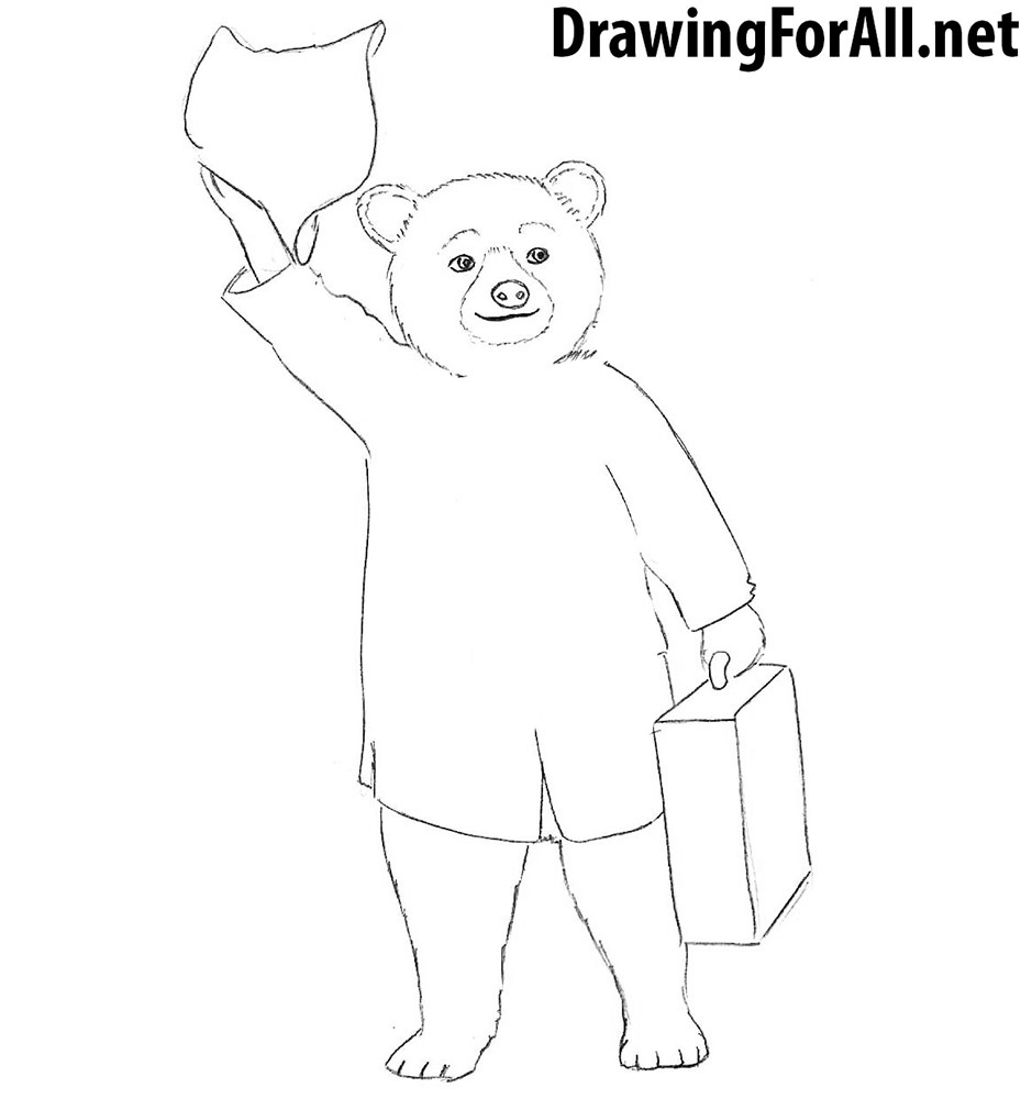 Paddington Bear drawing