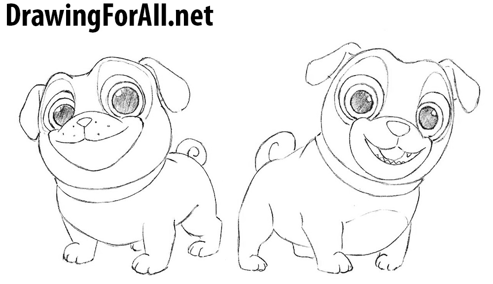 How to Draw Puppy Dog Pals DrawingForAllnet