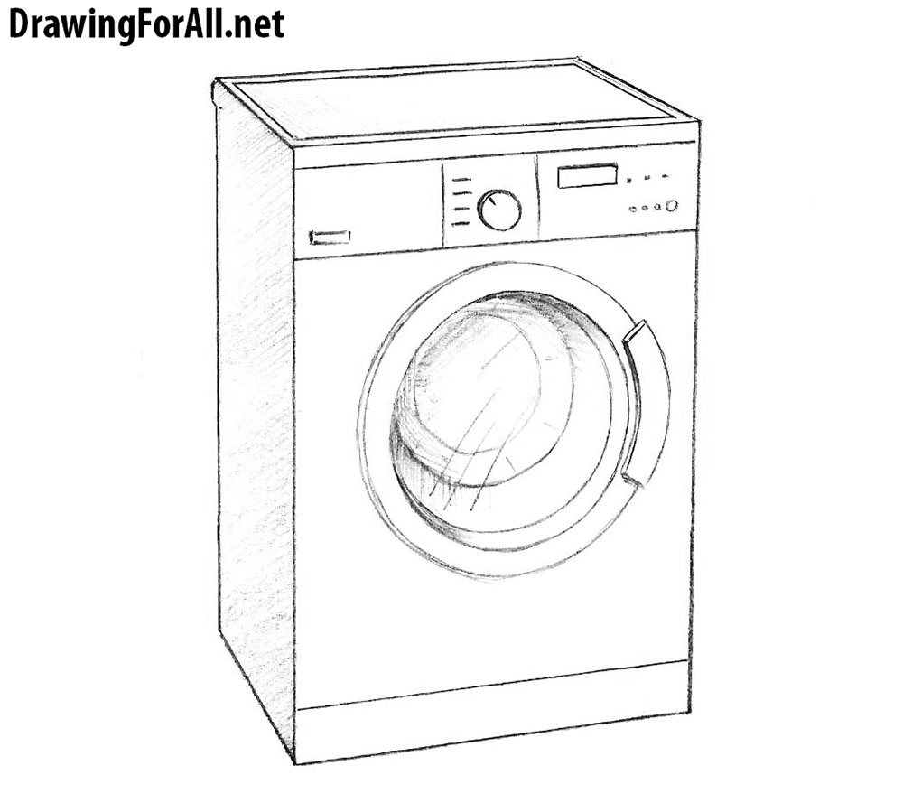 learn How to Draw a Washing Machine