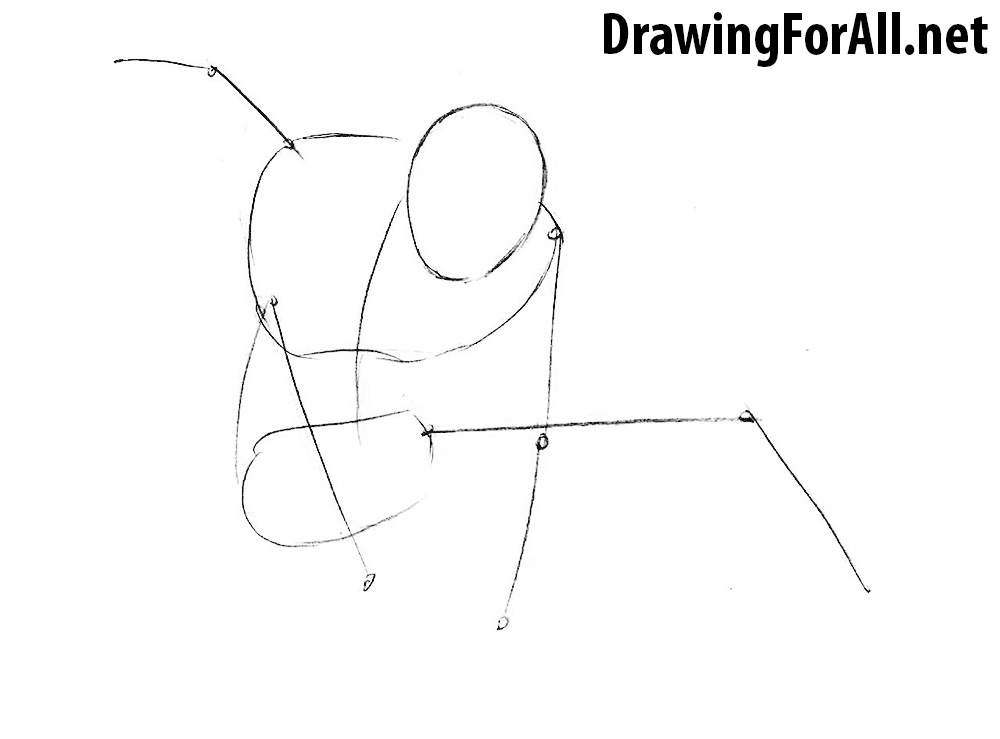how to draw the amazing bag man