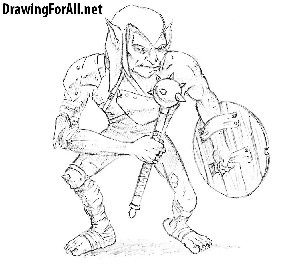 how to draw a goblin from dungeons & dragons