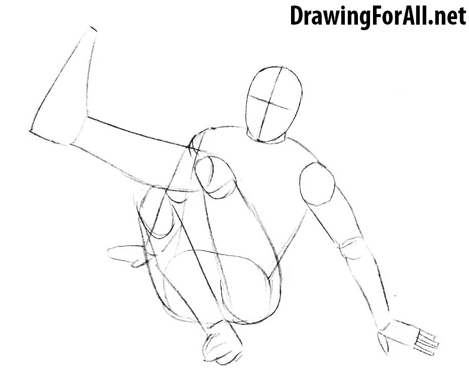 How to Draw a Football Freestyler