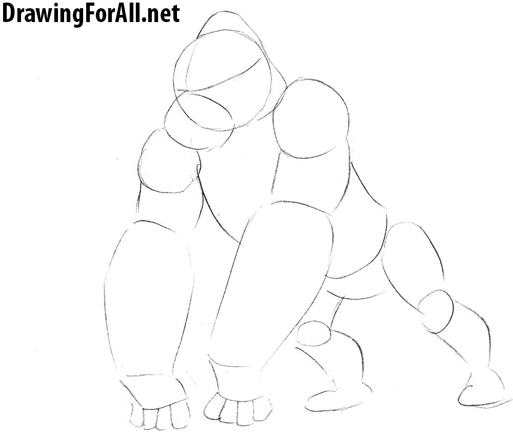 learn drawing king kong