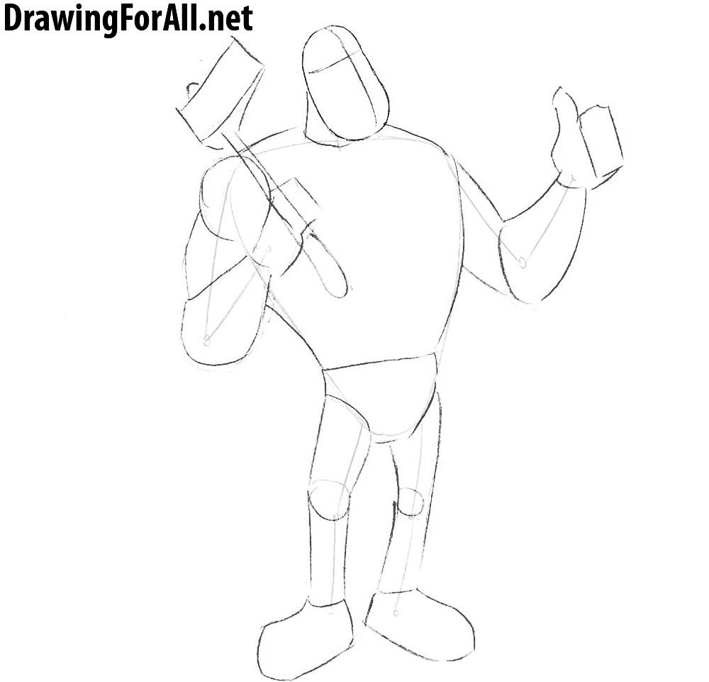 paul bunyan drawing lesson