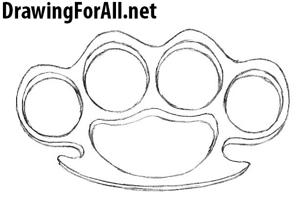 Brass knuckles drawing