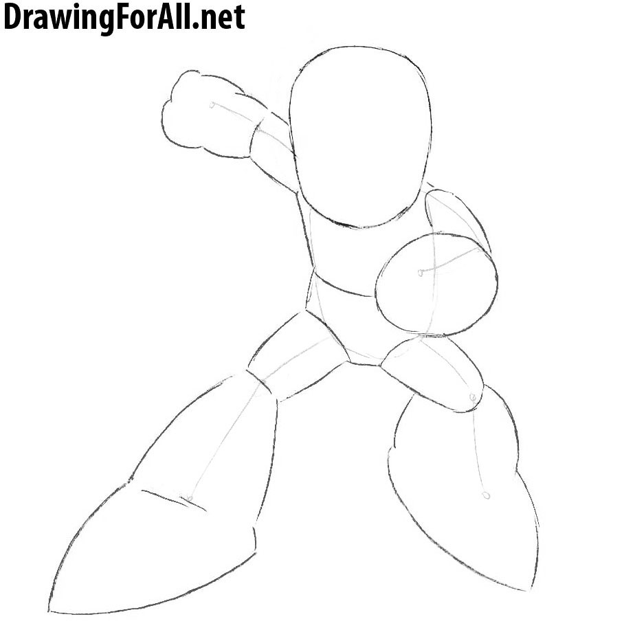 How to Draw Megaman with a pencil