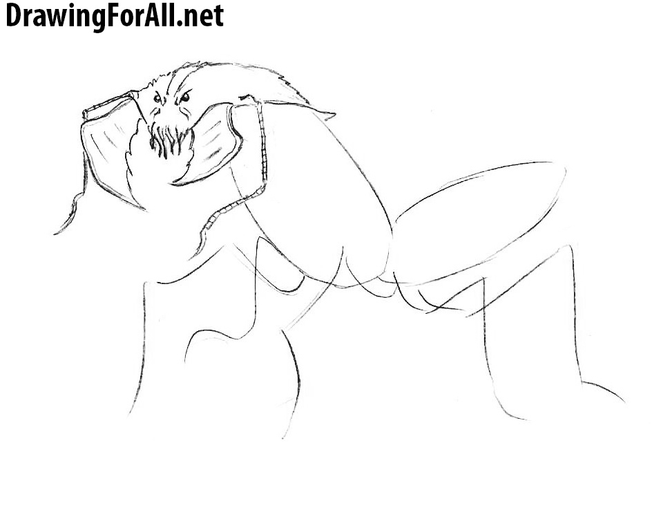 How to Draw an Ankheg from DND