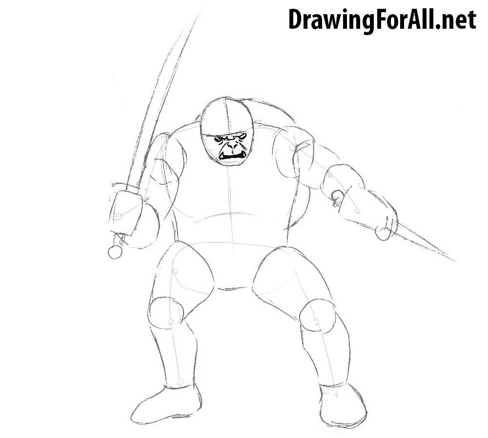 how to draw hobgoblins step by step