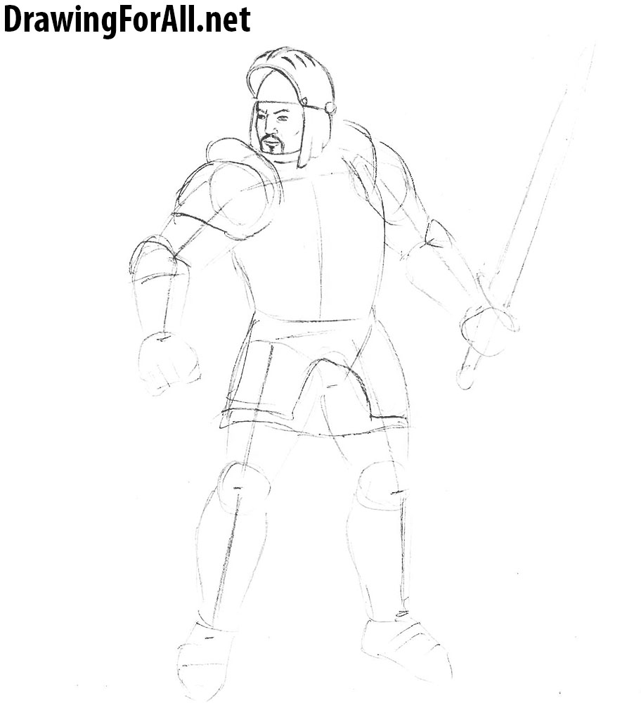 how to draw a gothic knight