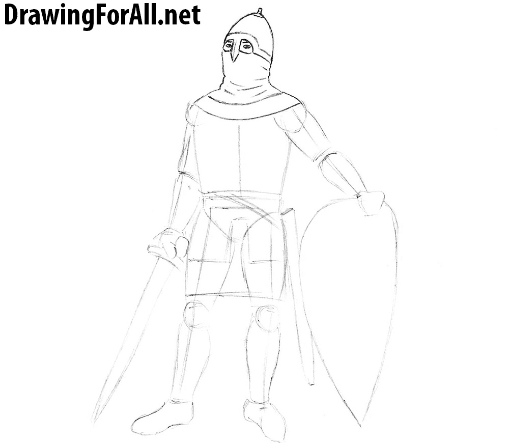 how to draw a medieval  slavic warrior