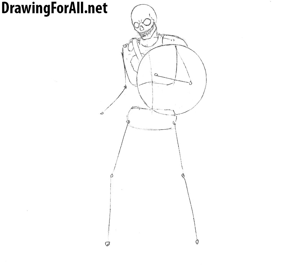 how to draw a skeleton from dungeons and dragons