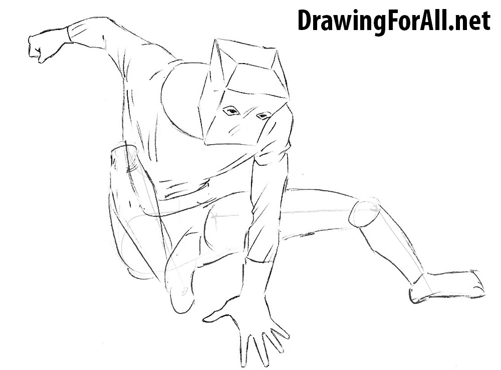 how to draw spiderman bag costume