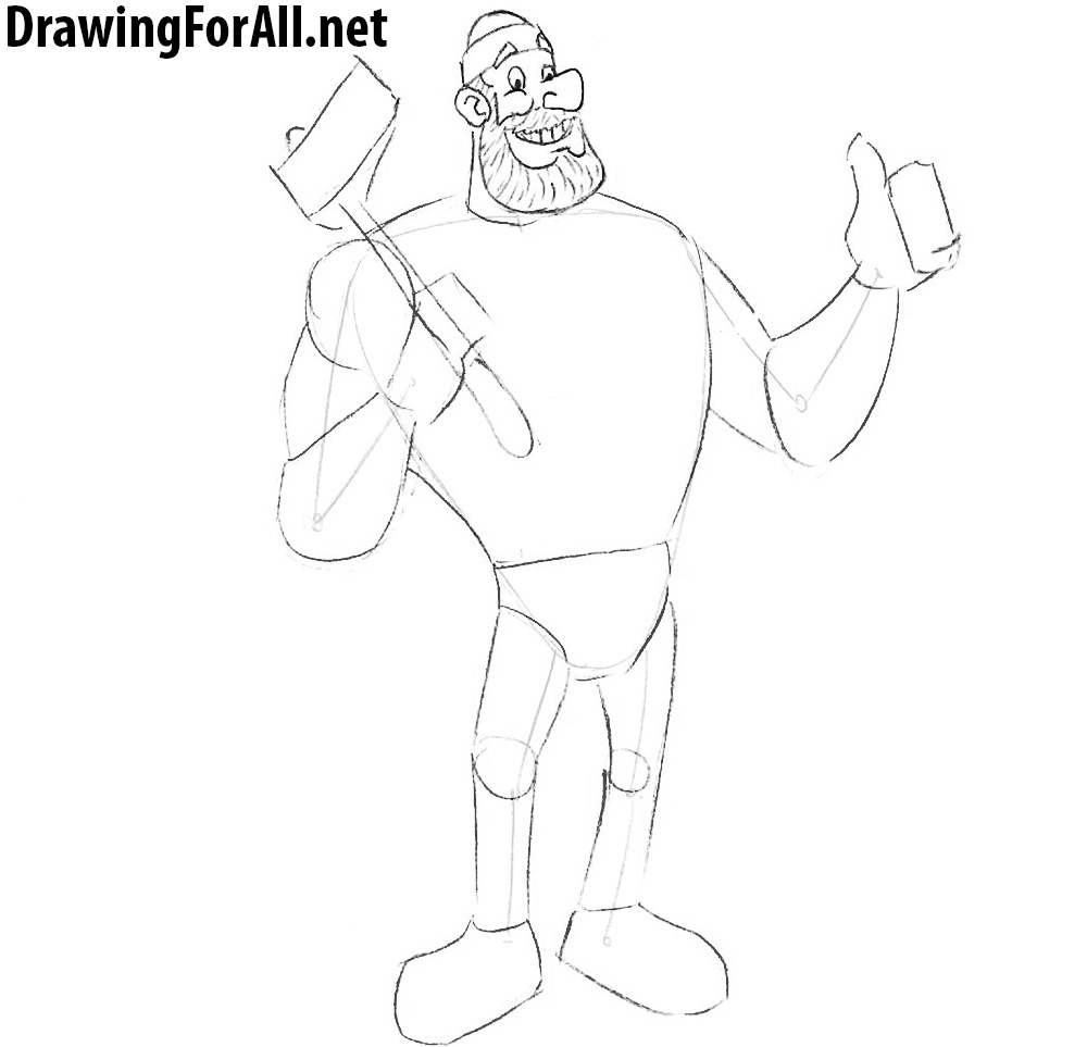 learn how to draw paul bunyan