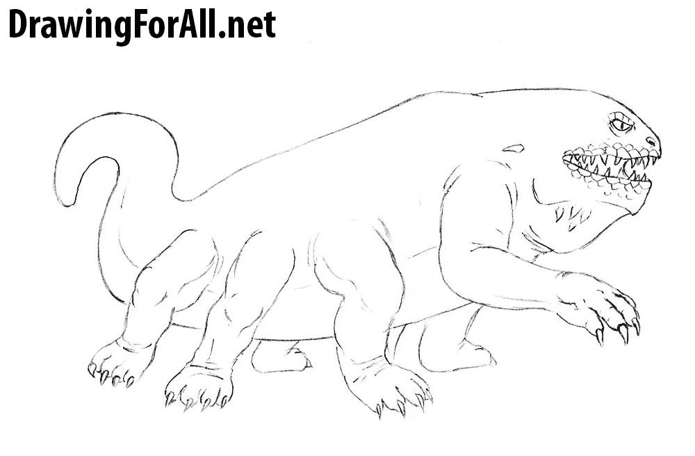 Basilisk drawing